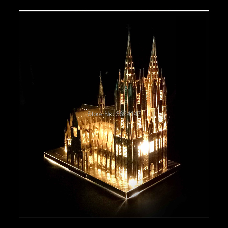 Sale New DIY Germany Cologne Cathedral Famous Building 3D Paper Model Puzzle Kit