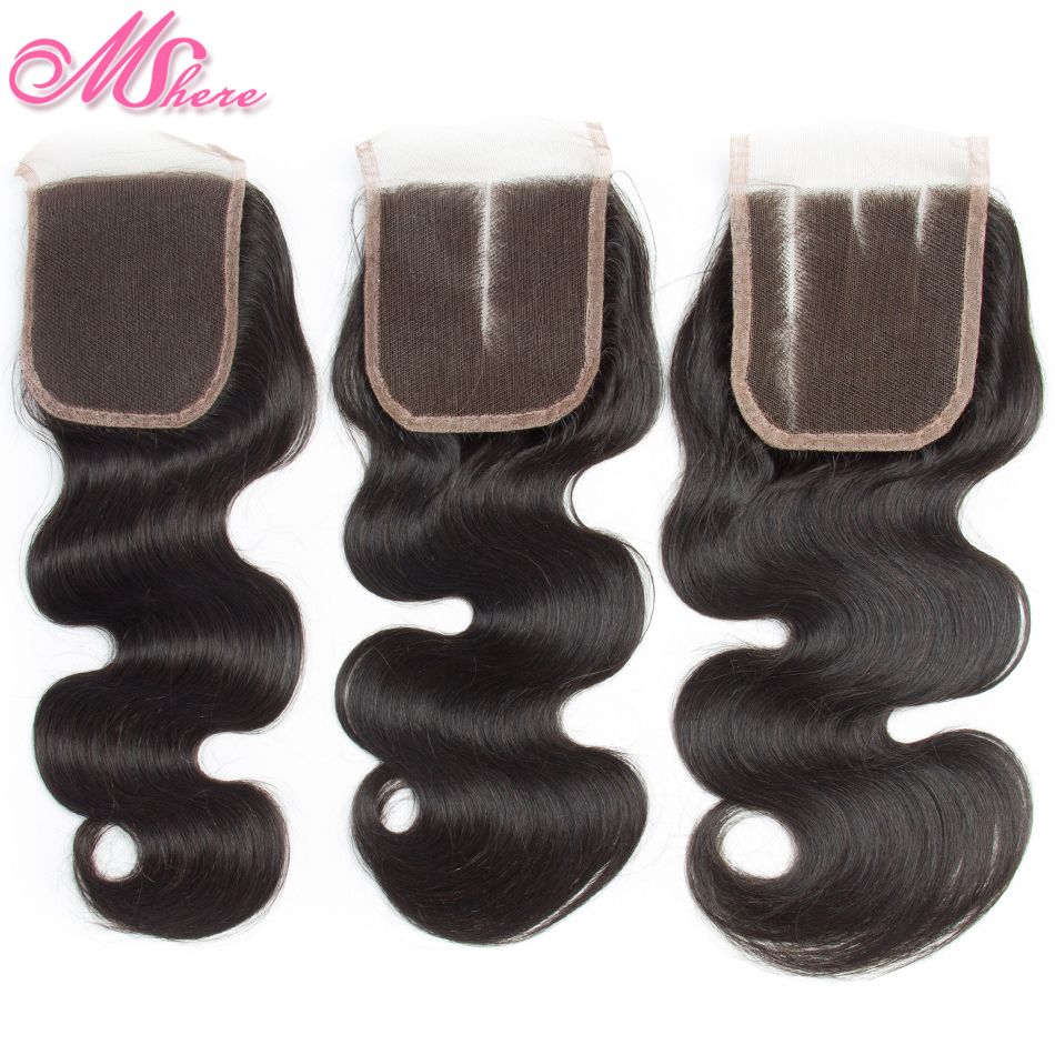Image 5 - Mshere Hair Peruvian Hair Body Wave Human Hair Bundles With Lace Closure Nature Black Pre Plucked Closure With Hair Bundles 1B#-in 3/4 Bundles with Closure from Hair Extensions & Wigs