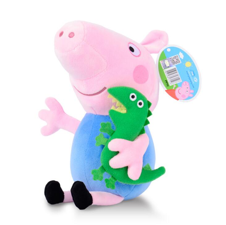 Genuine Peppa pig 19CM pink PIG Plush anime Toyshot sale Soft Stuffed cartoon Animal Doll For Children's Gift  1