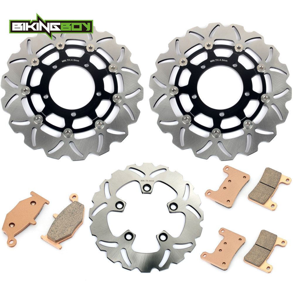 BIKINGBOY Front Rear Brake Discs Rotors Disks Pads For Suzuki GSXR 600 750 2006 2007 06 K6GSX-R 1000 07 2008 K7 K8 Motorcycle