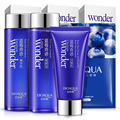 BIOAQUA Blueberry Face Care Sets Facial Cleanser + Toner + Emulsion Moisturizing Nourishing Anti-Aging Skin Care Whitening