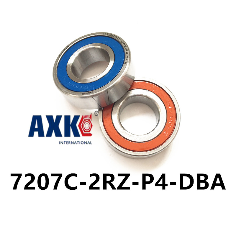 1 pair AXK  7207 7207C-2RZ-P4-DBA 35x72x17 Sealed Angular Contact Bearings Speed Spindle Bearings CNC ABEC 7 Engraving machine 1pcs 71901 71901cd p4 7901 12x24x6 mochu thin walled miniature angular contact bearings speed spindle bearings cnc abec 7
