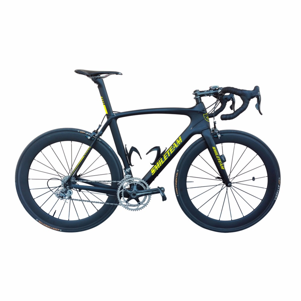 Smileteam Chinese Full Carbon Road Complete Bike, Di2 Carbon Bicycle Road Frame with 22 speed Ultegra Groupset,Complete Di2 Bike smileteam new 27 5er 650b full carbon suspension frame 27 5er carbon frame 650b mtb frame ud carbon bicycle frame