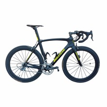 Smileteam Chinese Full Carbon Road Complete Bike, Di2 Carbon Bicycle Road Frame with 22 speed Ultegra Groupset,Complete Di2 Bike