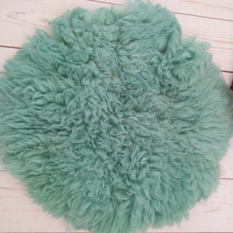 Newborn wool blanket baby photo props baby basket stuffer curly wool layer blanket baby photography props