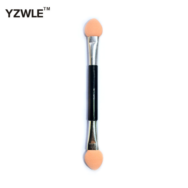 10PC Eyeshadow Applicator Pro Sponge Double Ended Make Up Supplies Portable Eye Shadow Brushes Nail Mirror Powder Brush 3