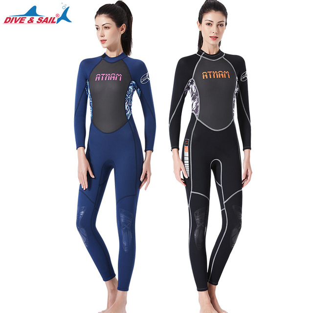 c0e236ac5f women dive suit neoprene 3mm wetsuit shark skin pear fishing surfing rowing  spearfishing girl wetsuit