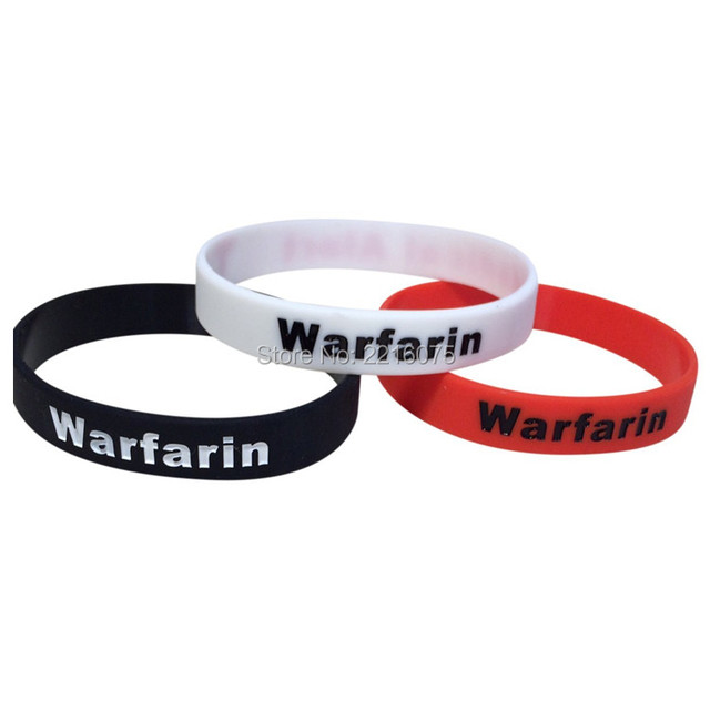 300pcs Debossed Medical Alert Warfarin Wristband Silicone Bracelets Free Shipping By Dhl Express