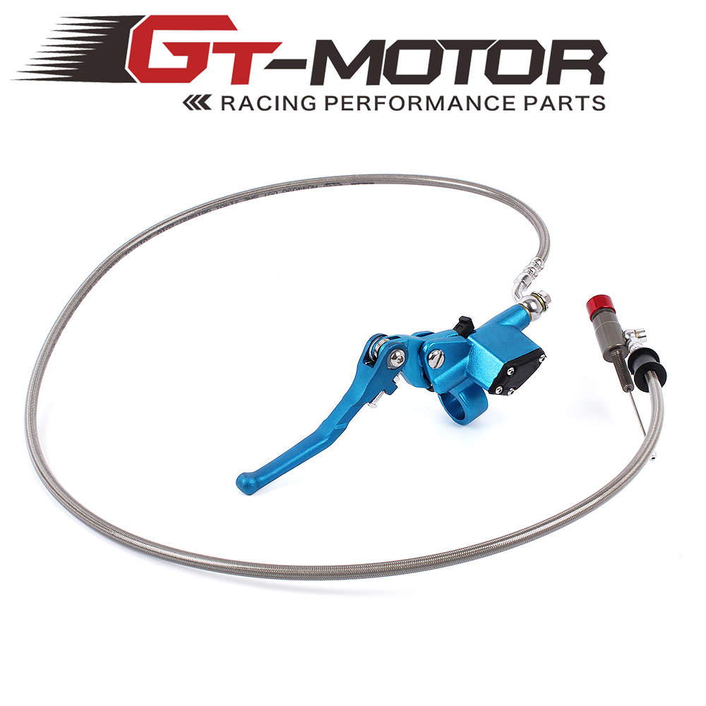 7/8 Inch Universal Motorcycle Pit Dirt Bike Hydraulic Brake Clutch Lever Master Cylinder 1200mm 7 8 inch universal motorcycle hydraulic brake clutch lever master cylinder refitting dirt pit bike motorcycle 1200mm