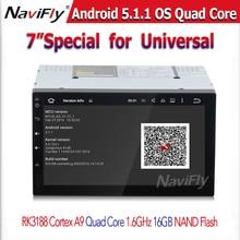 Shinpping libre de Android 5.1 Pantalla Grande Universal de 2 DIN Auto Estéreo de apoyo de Navegación GPS 3G/WIFI
