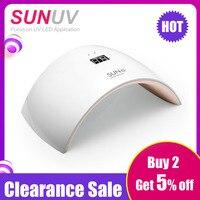 SUNUV SUN9s SUNmini2 Plus 24W UV LED Lamp for Nails LED Dryer Polish Machine for Curing Nail Gel Art Tools
