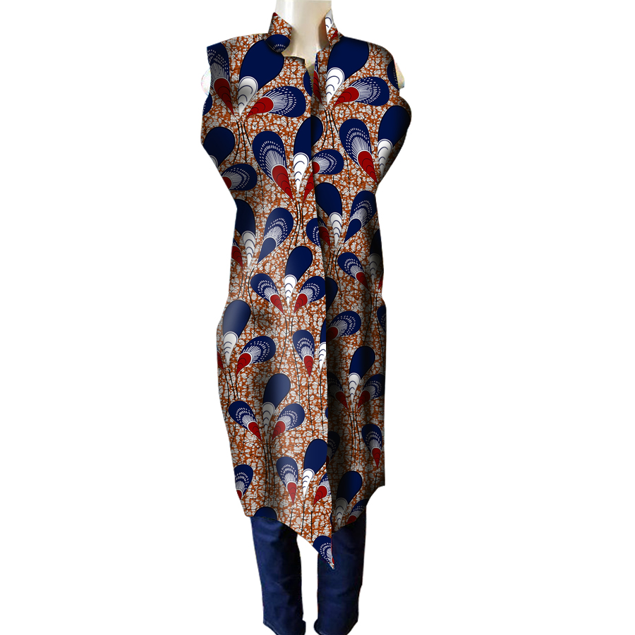 Fashion Women Africa Clothes Fashion Print Dress Woman Party Mandarin Collar Dress African Ladies Costume Customize