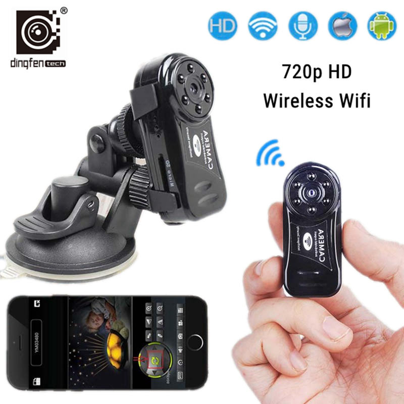 DINGFEN Wireless ip mini wifi camera hd secret action cam home security