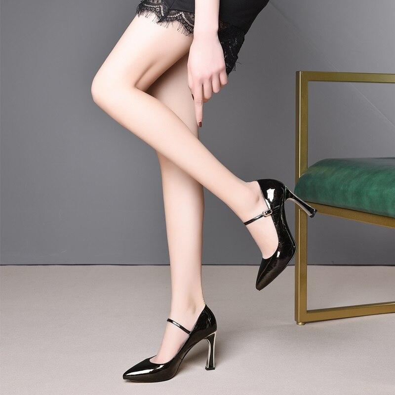 Haute Black À Verni Femme Zvq Rement Chaussures Hadmade Pour Talons Nouvelle Sexy En 2019 Mince green Super Semelles Cuir L'extérieur Mode Pompes Compensées Femmes Printemps ¨ HaqHOSn