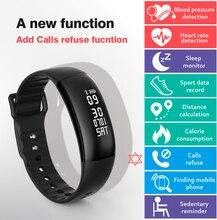 Smart Band S69 сердечного ритма Приборы для измерения артериального давления ЭКГ браслет 3D-G-Sensor умный Браслет Поддержка вызова SMS напомнить для IOS Android PK G20