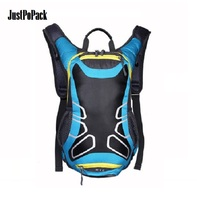 Waterproof Riding Backpack with Reflective stripe Casque carrier Water bag outlet Breathable mesh Travel Knapsack Hiking Sport