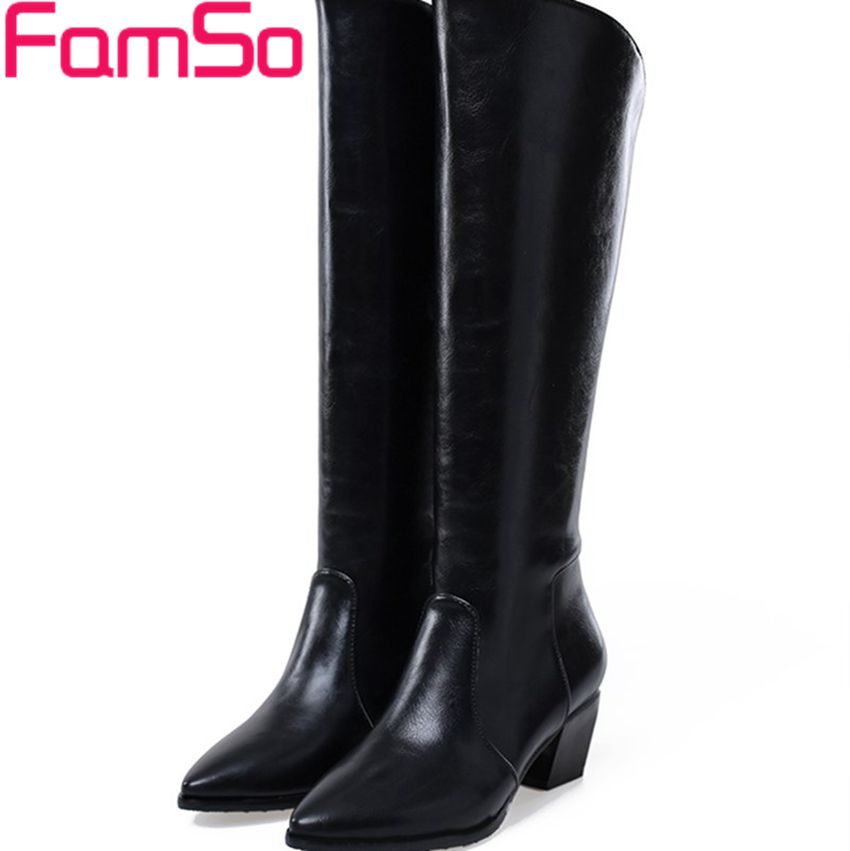 Free shipping 2016 New Sexy font b Women b font Boots Long Knee High Boots thick