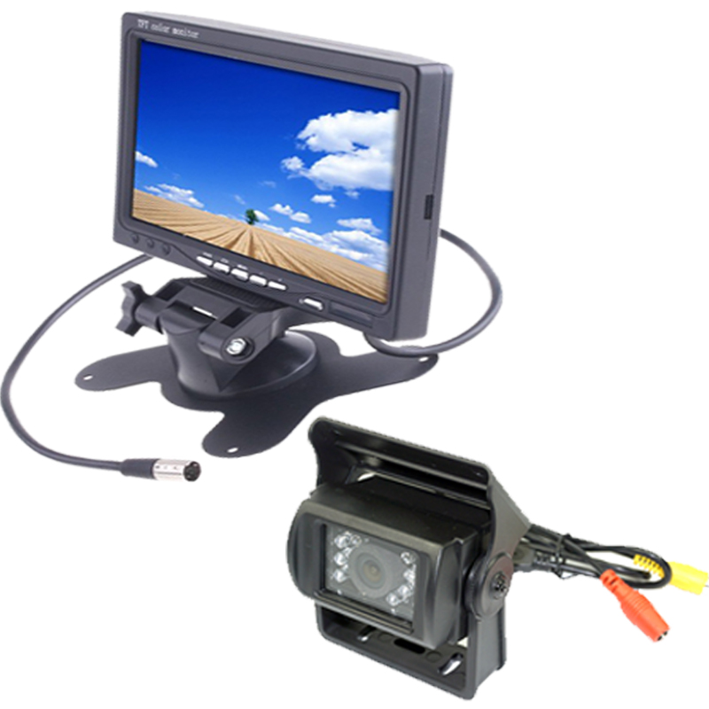 Bus Truck RV 7 LCD Rear view Monitor+15m Wired IR Reverse Backup Camera diysecur 4pin dc12v 24v 7 inch 4 split quad lcd screen display rear view video security monitor for car truck bus cctv camera