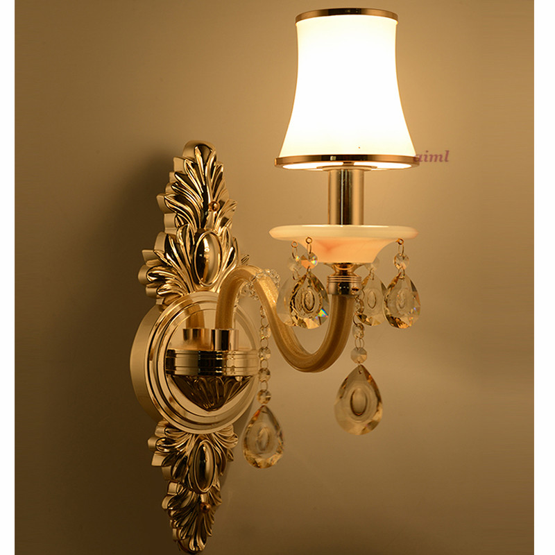LED Zinc alloy European style CRYSTAL lamp Collocation luxurious WALL lamps k9 CRYSTAL K9 E14 wall lamp factory direct sale in Pendant Lights from Lights Lighting