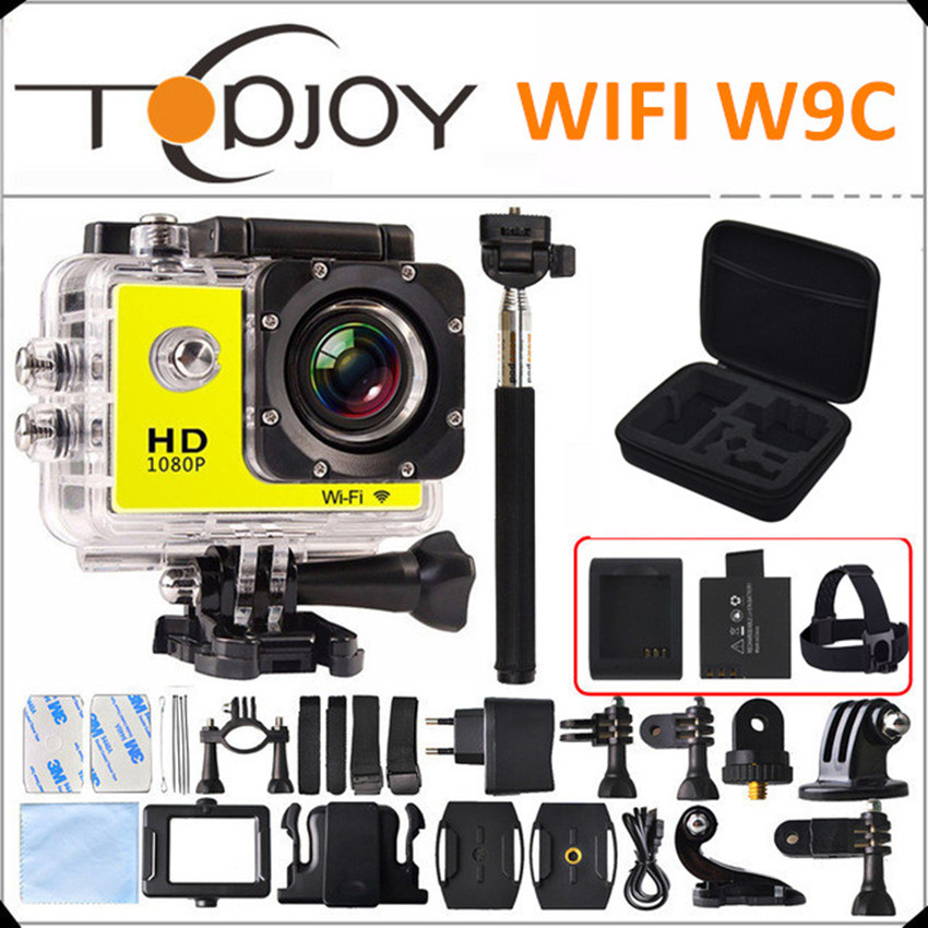 font b Gopro b font Style Action Camera 1080P Full HD Wifi Sport DV W9C