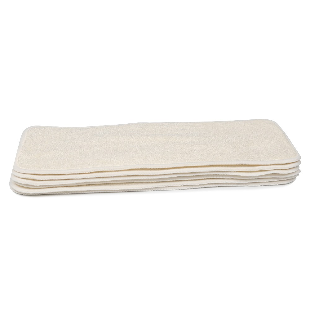 [CHOOEC] 1Pcs 4 Layers Natural Bamboo Charcoal Inserts Microfiber Cloth Diaper For Baby Diaper Washable Reusable Diaper