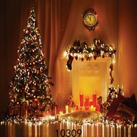 SJOLOON Red Candle Fireplace Christmas S Day Decoration Photo Backdrops Cute Children Prop Vinyl Photography