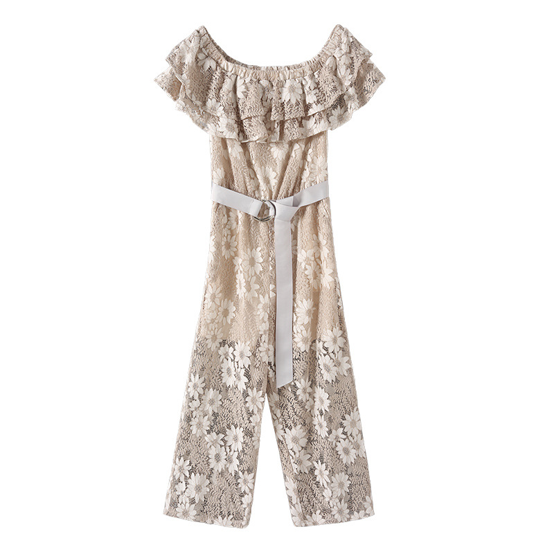 New Women Lace Strapless Pants Trousers Jumpsuit Bodycon Playsuit Women Clubwear Beach Party Romper Suit 2018 Sexy Lace Overalls 5