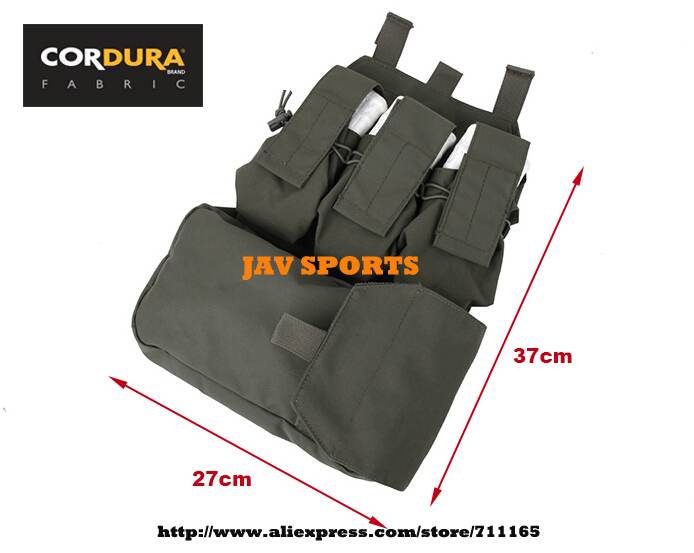 TMC MOLLE Assault System Assault Back Panel 500D Cordura RG Ammo Pouch+Free shipping(SKU12050477) convex pouch string design voile panel t back