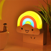 Rainbow LED Night Light Control Plug-In 3d lamp nights lights  for children smart