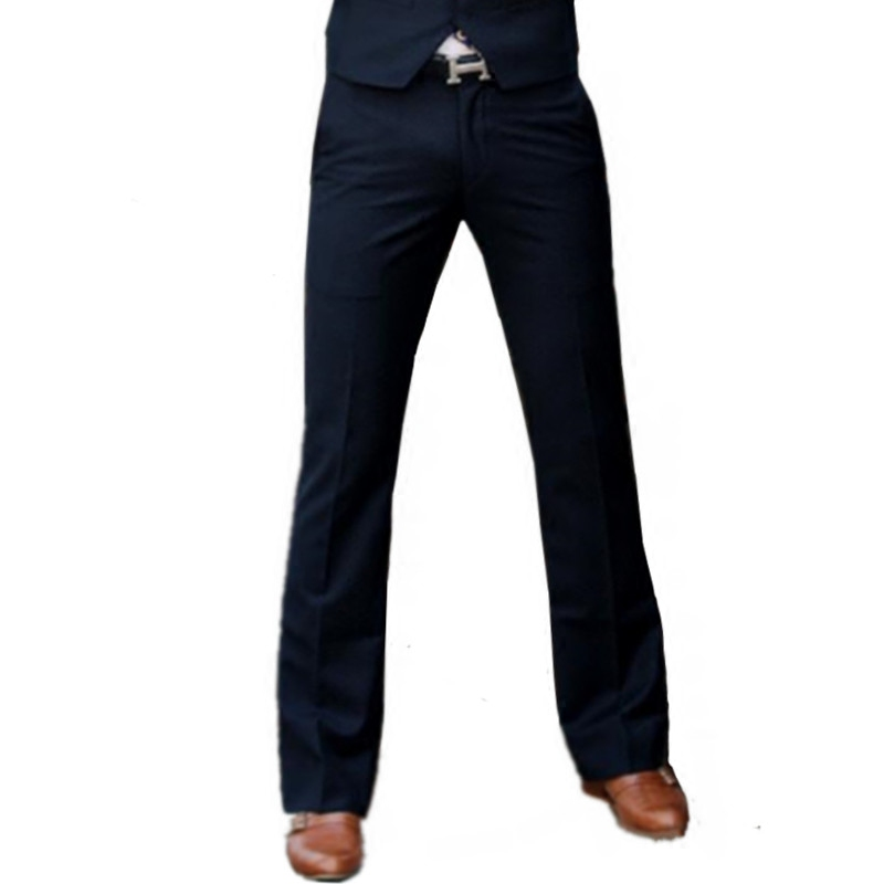 2019 Spring Euro US Flare Suit Pant Style New Men's Flared Trousers Formal Pants Bell Bottom Pant Boot Cut Suit Pants Size 28-37