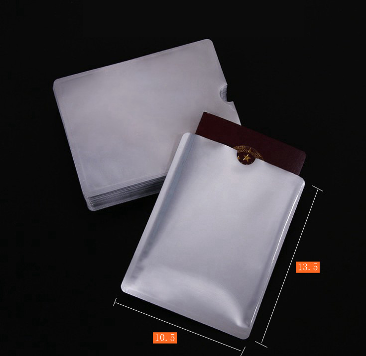 10  Pcs Passport Anti-scanning Card Holder NFC Shielding Card Holder Anti-degaussing Anti-RFID Scanning Aluminum Foil