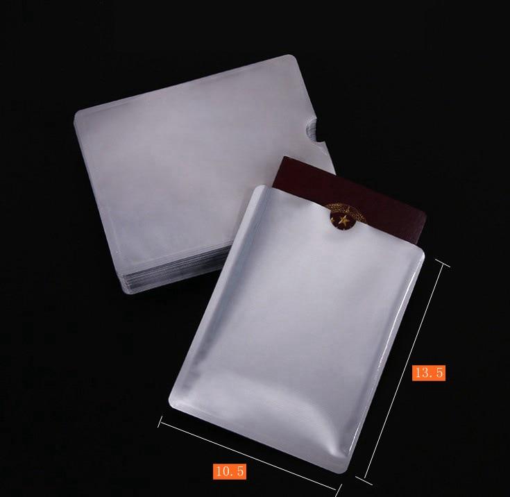 10  Pcs Passport Anti-scanning Card Holder NFC Shielding Card Holder Anti-degaussing Anti-RFID Scanning Aluminum Foil
