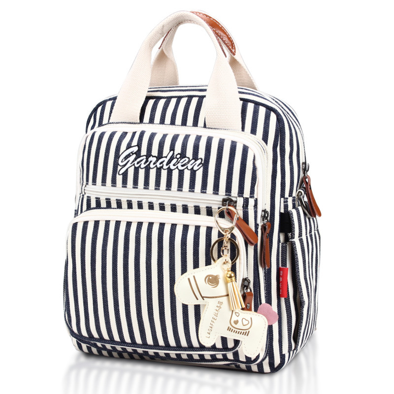 Fashion Ethnic Wind Maternity Nappy Bag Maternity Baby Bags For Mom Travel Backpack Large Capacity Stripe Diaper Bag For Infant