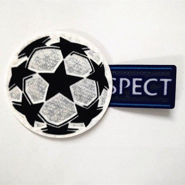 Bola da liga dos campeões remendo Impressão de futebol patches emblemas, Emblemas de Patch de Futebol Hot stamping
