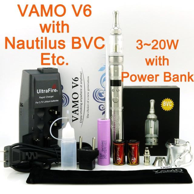 2600mAh VAMO V6 Electronic Cigarette Kit with Authentic iClear30S Aerotank V2 Mega or Nautilus BVC Atomizer/2014 New V5