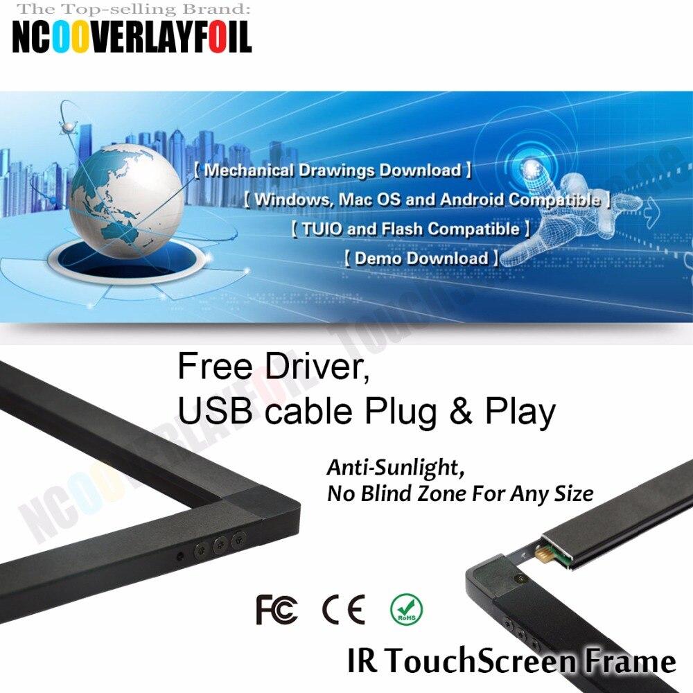 Лучшая цена! 40 дюймов ИК сенсорный Наложение Комплект/панель/рамка, 10 точек касания, стоимость, быстрая
