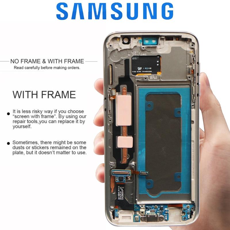 ORIGINAL 5 1 SUPER AMOLED LCD with Frame for SAMSUNG Galaxy S7 Flat Display G930 G930F ORIGINAL 5.1'' SUPER AMOLED LCD with Frame for SAMSUNG Galaxy S7 Flat Display G930 G930F Touch Screen Digitizer