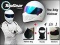 Белый Шлем + Гуд Hat + Наклейки + Сумка Для Top Gear СТИГ Шлем Красочный Козырек/как СИМПСОН Свинья/Мотоцикл/TopGear Использования