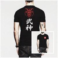 חידוש אופנה היפ הופ סמוראי הנינג 'ה יפנית חולצת Mens T המודפס O צוואר Harajuku חולצת טריקו שרוול קצר חולצות בגדי מותג