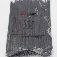250Pcs Pack 8 300mm High Quality Width 5 2mm Black Color Factory Standard Self Locking Plastic