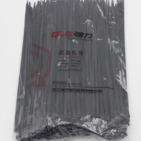 250Pcs Pack 8 300mm High Quality Width 5 2mm Black Color Factory Standard Self Locking Plastic