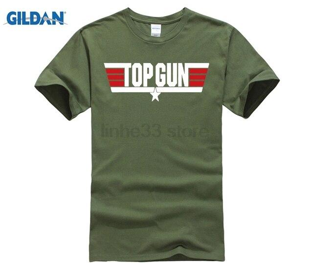 59dd95a78 Men T-shirt Lowest Price 100 % Cotton Top Gun Maverick Movie 80's Jet Pilot  Men's Front Back Tee Shirt Tom Cruise 767