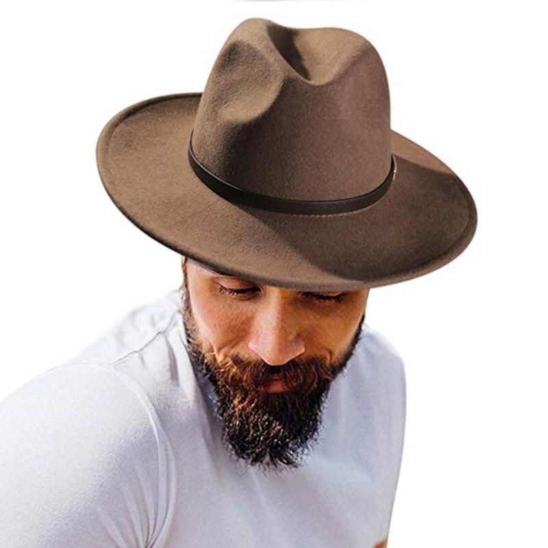 FURTALK Fedora Hat for Women Men 100% Australian Wool Felt Wide Brim Hat Vintage Jazz Fedora Hat Couple Cap Winter chapeau femme 4