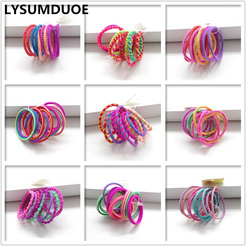 Girl Hair Accessories 40pcs/lot Bow Elastic Hair Band Candy Ring Scrunchy Gift Child Jewelry Hoop Ponytail New Paisley Hairband metting joura vintage bohemian ethnic tribal flower print stone handmade elastic headband hair band design hair accessories