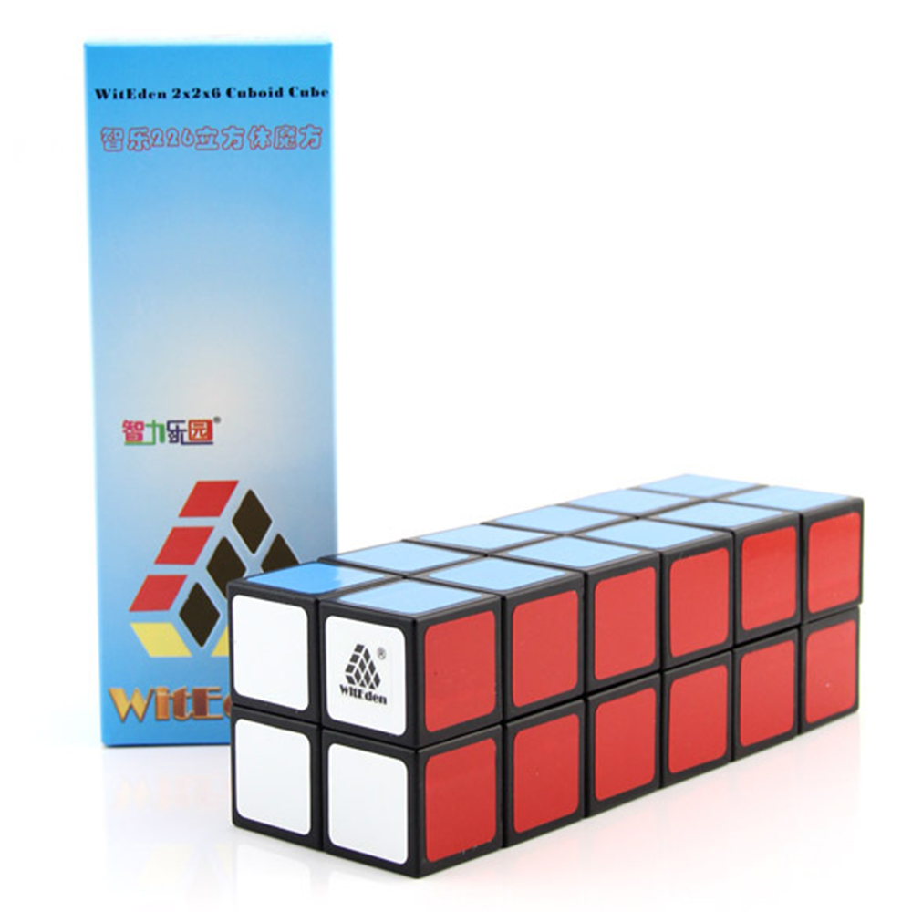 WitEden White Black 2x2x6 Cuboid Magic Cubes Puzzle Speed Cube Educational Toys Gifts for Kids Children