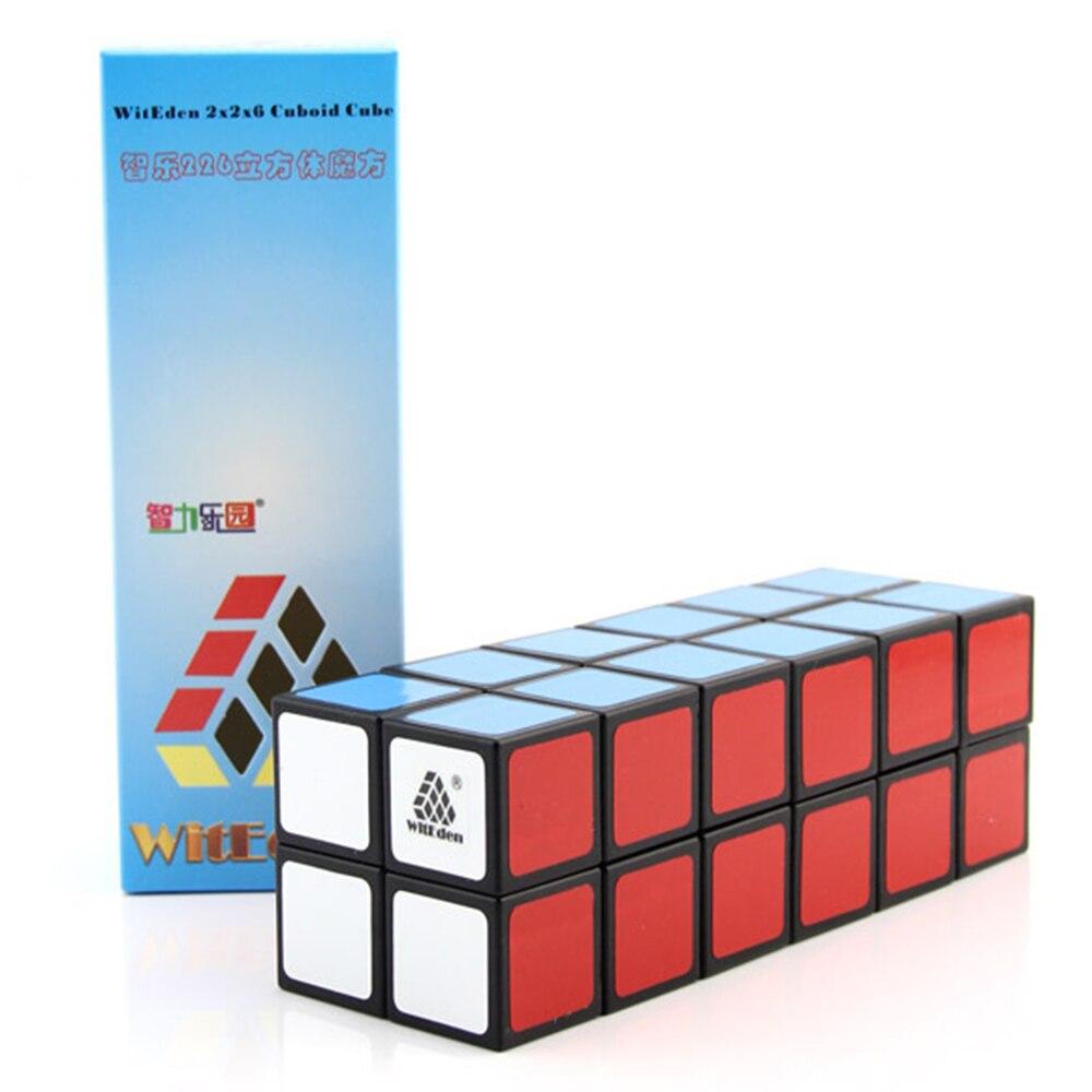 WitEden blanc/noir 2x2x6 Cubes cuboïdes magiques Puzzle Speed Cube jouets éducatifs cadeaux pour enfants enfants