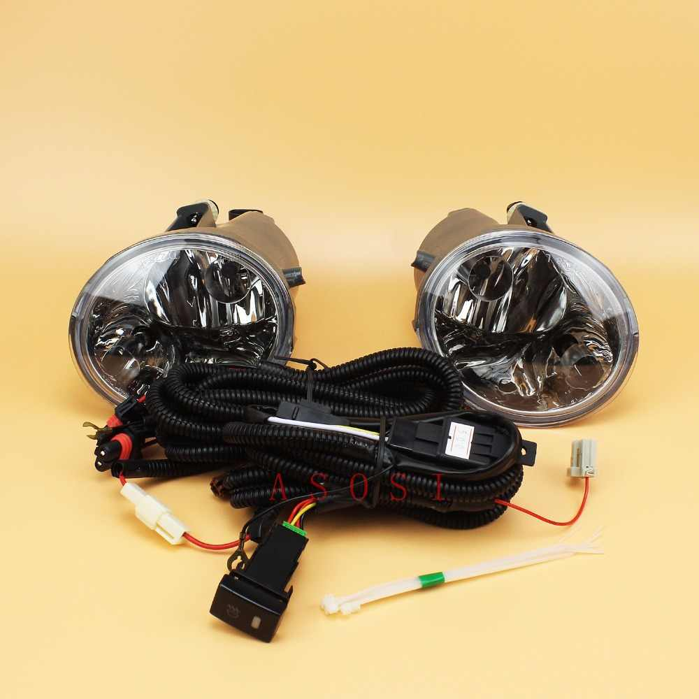 For Toyota Tundra / Sequoia 2004 2005 2006 Bumper Fog Lights Assembly Direct Replacement Fog Lamp Kit /1Set w/Bulb Switch Wire