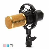 Mikrofon Professional BM 800 Bm800 Condenser Sound Recording Microphone With Shock Mount For Radio Braodcasting Singing