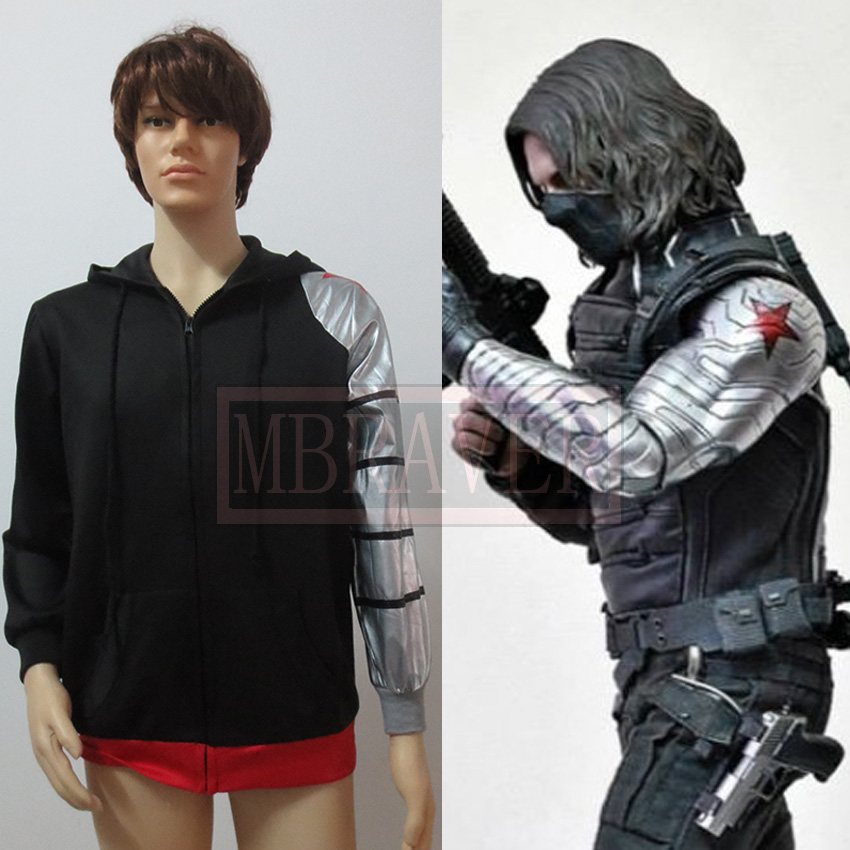 Custom Made Movie Captain America The Winter Soldier James Buchanan Barnes Bucky Cosplay Costume
