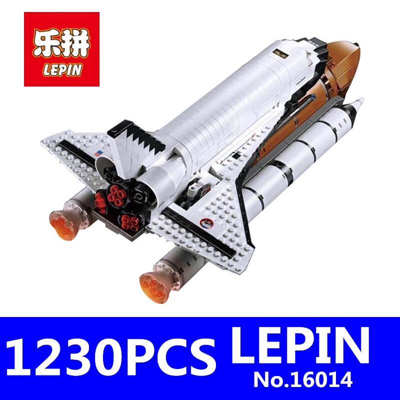 LEPIN 16014 1230Pcs Out of Print Shtttle Expedition Spaceship Buliding Blocks Bricks for Children Toys Gift Compatible 10231 lepin 16014 1230pcs space shuttle expedition model building kits set blocks bricks compatible with lego gift kid children toy